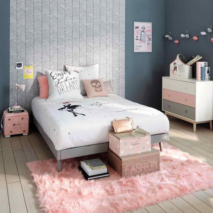 la couleur rose poudr dans la d co int rieure. Black Bedroom Furniture Sets. Home Design Ideas