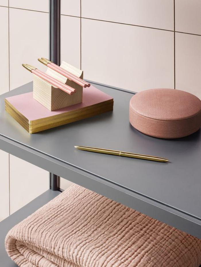la couleur rose poudr dans la d co int rieure. Black Bedroom Furniture Sets. Home Design Ideas