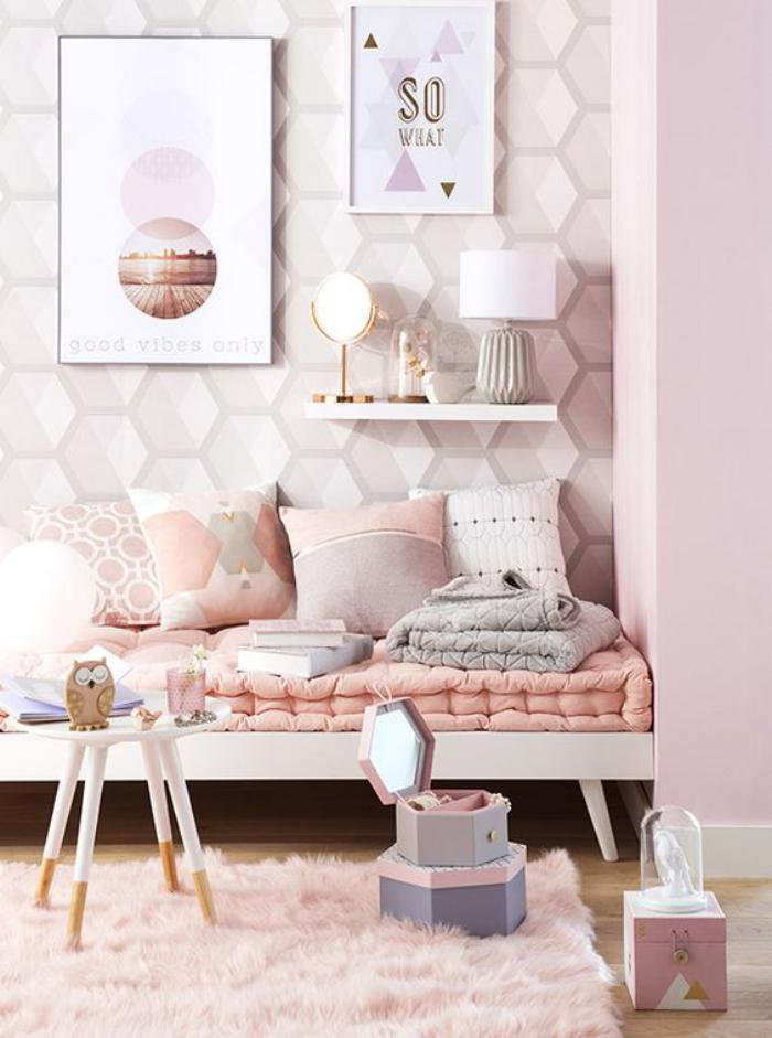 Decoration rose gold chambre for Decoration maison rose gold