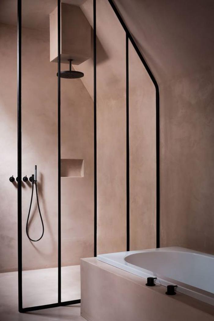 couleur-rose-poudré-salle-de-bain-en-rose-poudré-peinture-rose