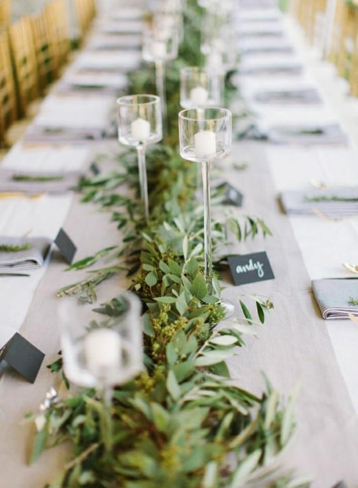 deco-de-table-pas-cher-chemin-de-table-mariage-decoration-avec-branches-vertes