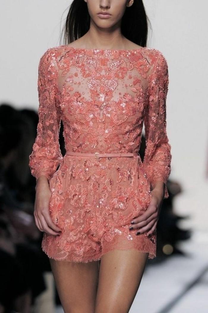 51 mod les de la robe de soir e pour mariage - Combinaison rose pale ...