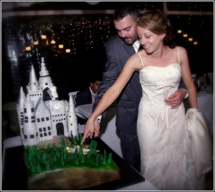 ecole-poudlard-mariage-déco-thématique-couple-mariée