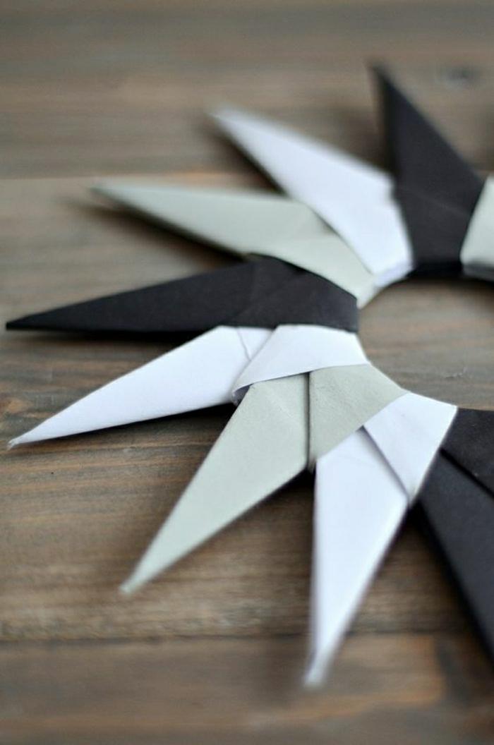 etoile-origamie-blanc-noir-comment-plier-le-papier-pour-creer-des-origamies