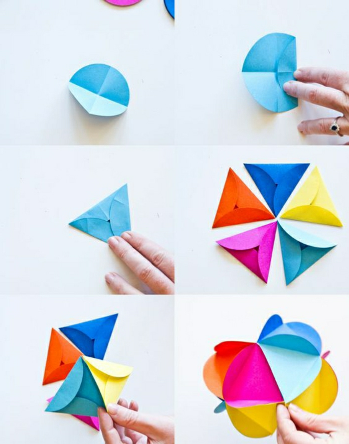figures-en-papier-coloré-origami-en-papier-coloré-fleur-origami ...