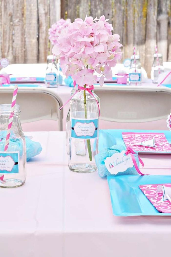 formidable-deco-table-anniversaire-meilleures-idées-bleue