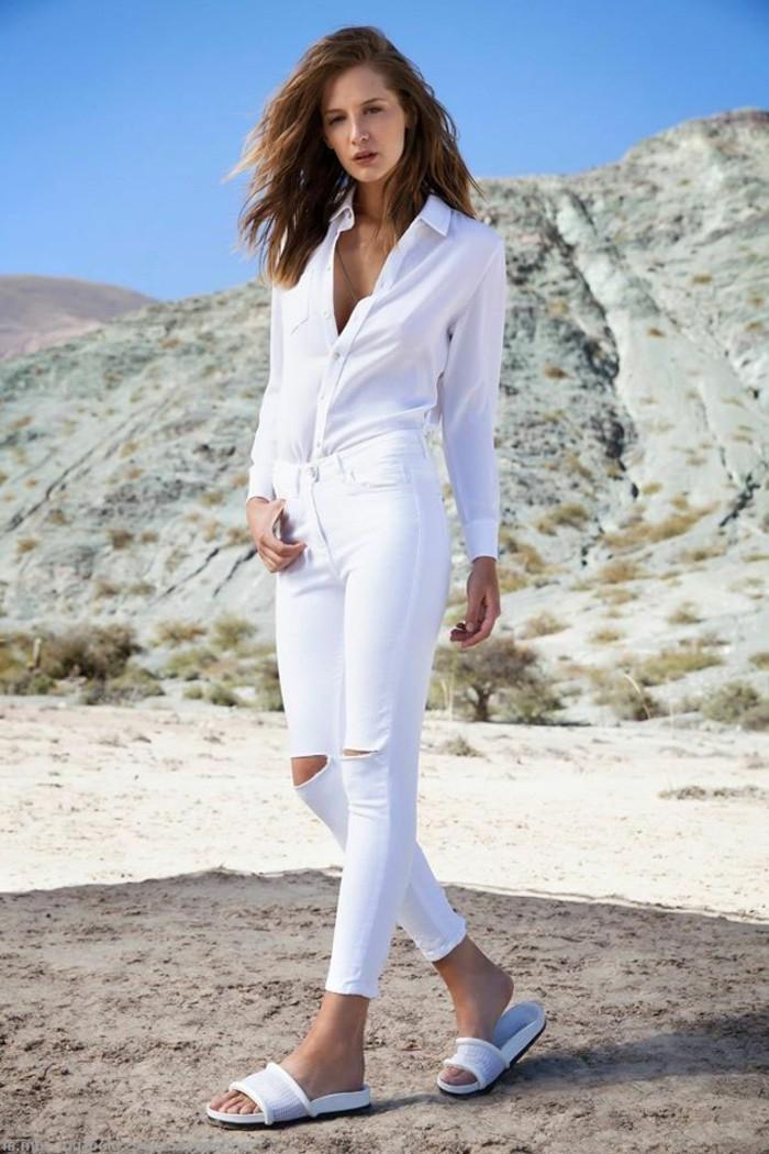 idée-tenue-avec-chaussures-blanche-femme-mode