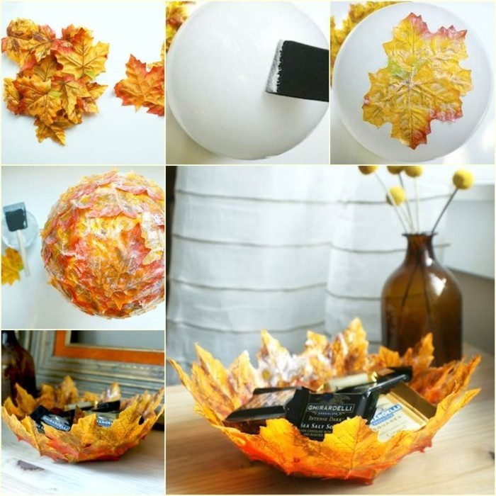 image-feuille-d-arbres-idée-diy-idée-cool-comment-faire-la-boule-de-fleurs
