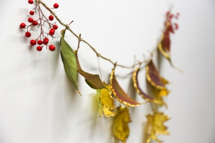 image-feuille-d-arbres-idée-diy-idée-cool-guireland-automne-noel-feuilles-décorés