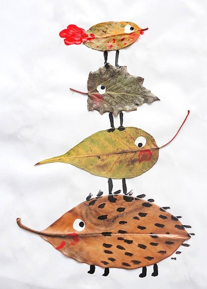 jolie-photo-feuilles-d-arbres-diy-originale-une-idée-activité-avec-enfants