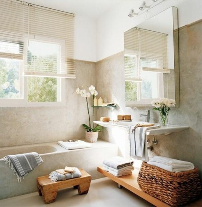 Comment cr er une salle de bain zen - Hauteur carrelage salle de bain ...