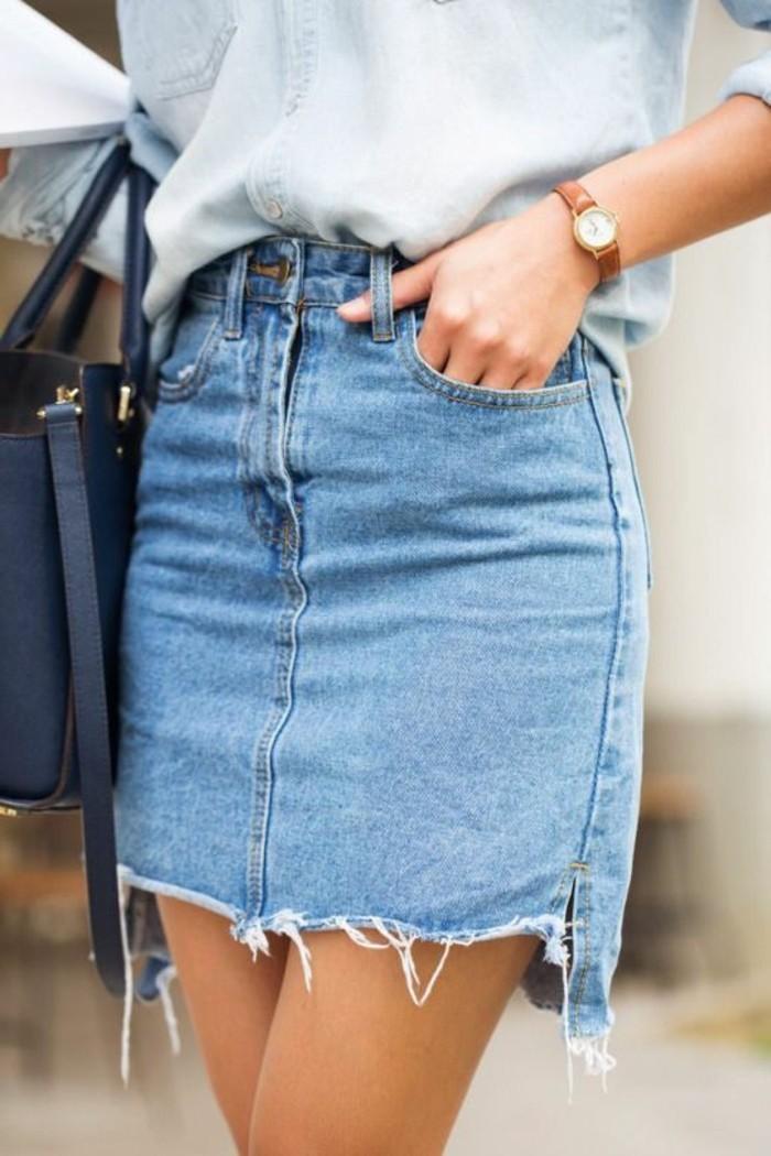 jupe-en-jean-femme-design-court-chemise-en-denim-bleu-clair-femme-mode-2016