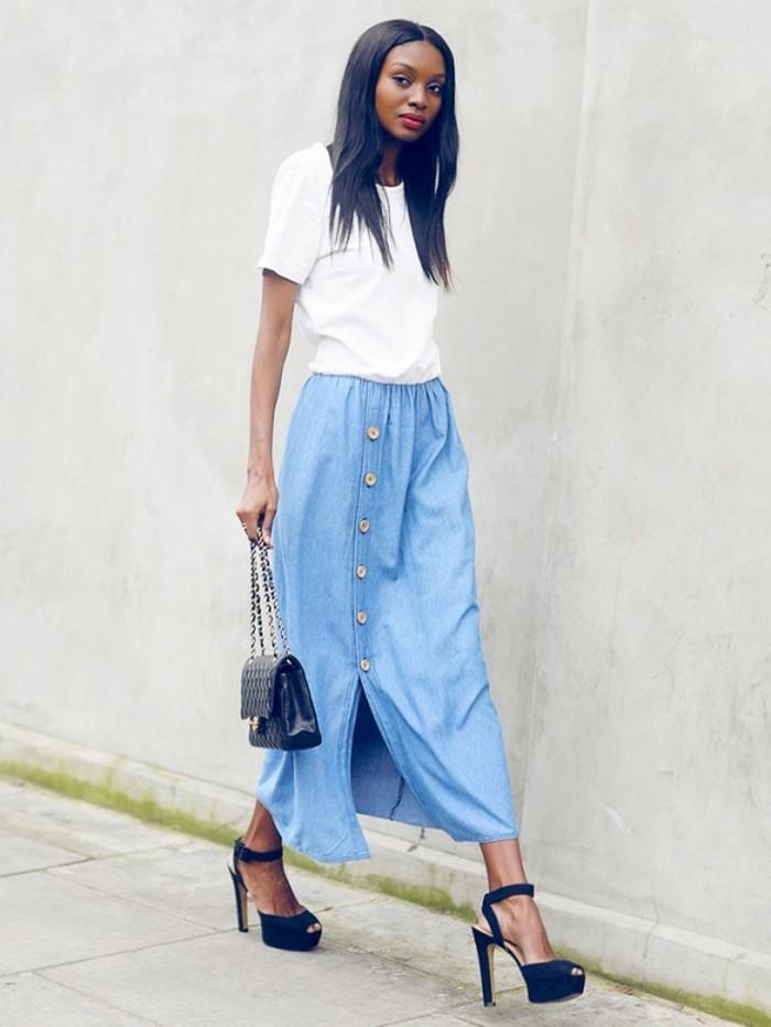 La jupe en jean femme, lavis des stylistes!