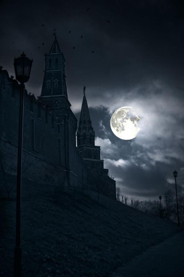 la-pleine-lune-silhouette-de-chateau-magnifique-paysage-de-nuit