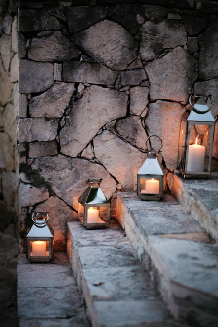 lanterne-bougie-déco-d'escalier-magnifique
