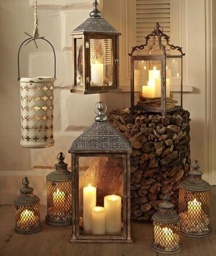 lanterne-bougie-décorer-avec-des-lanternes