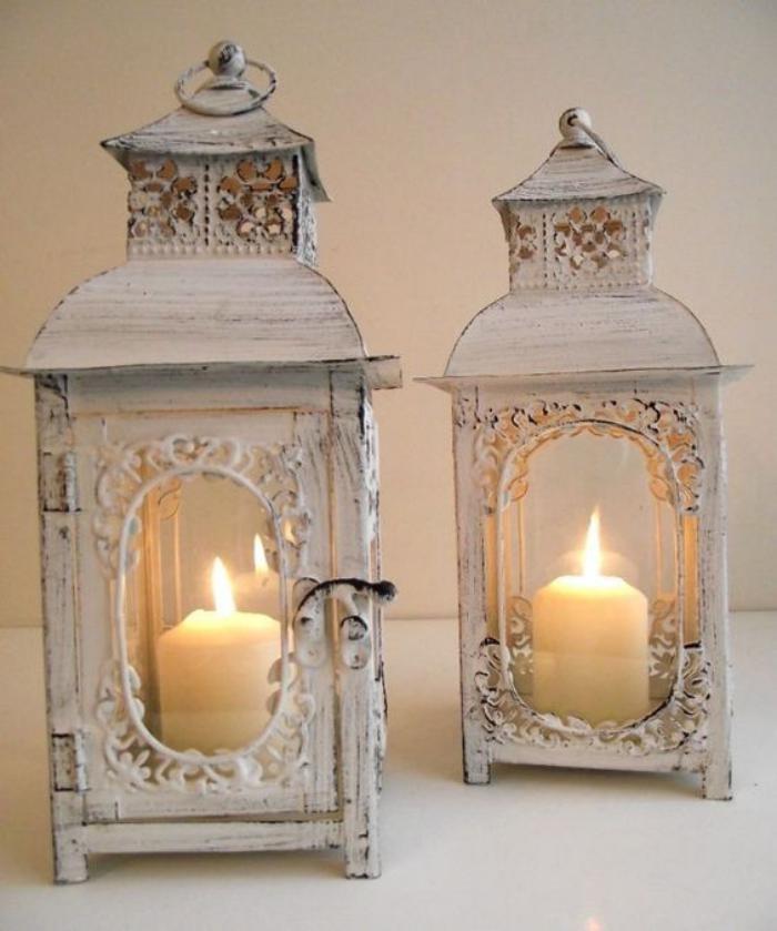 lanterne-bougie-deux-lanternes-blanches-shabby-chic