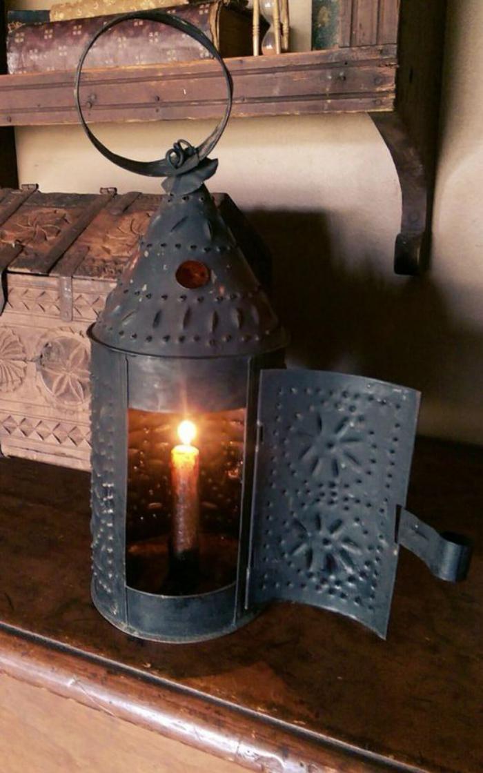 lanterne-bougie-lanterne-noire-rustique