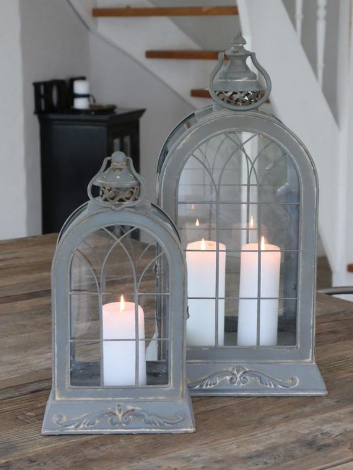 lanterne-bougie-lanternes-grises-lanternes-à-bougie
