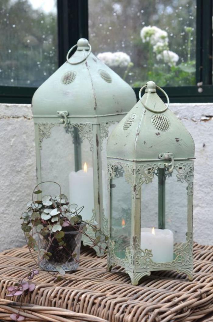 lanterne-bougie-lanternes-shabby-chic-vert-pâle