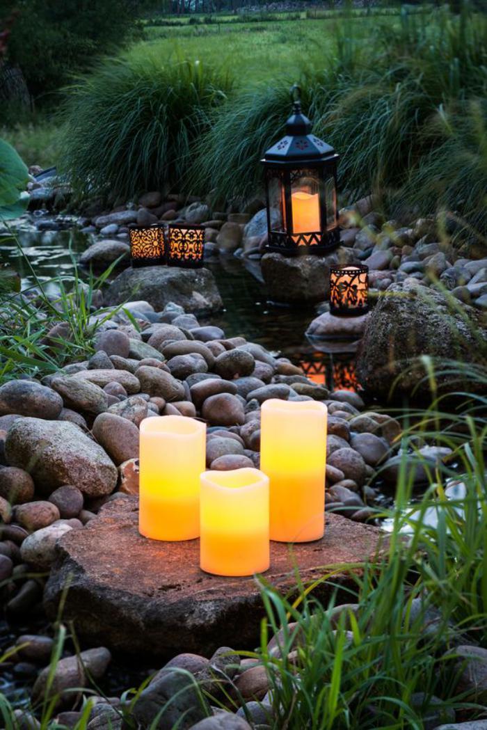 lanterne-bougie-pour-l'illumination-du-jardin