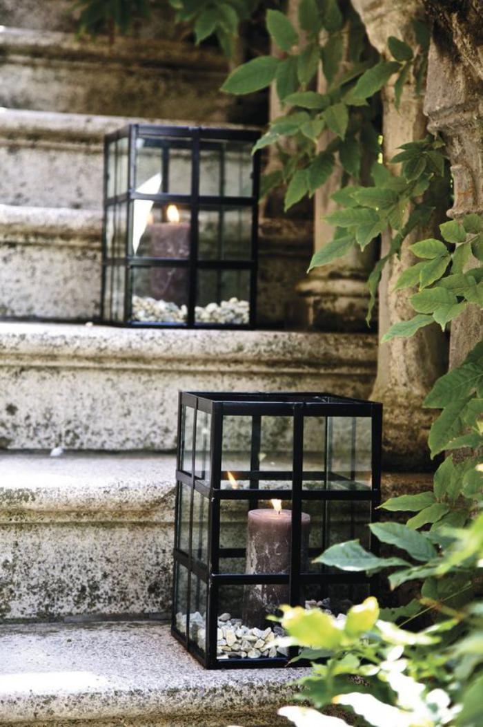 lanterne-bougie-stylée-déco-des-pas-de-l'escalier