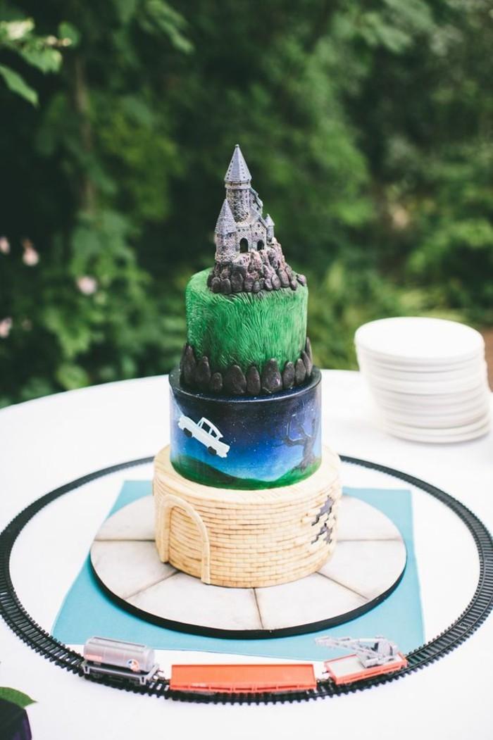 lettre-poudlard-décoration-gâteau-robe-mariée-chateau