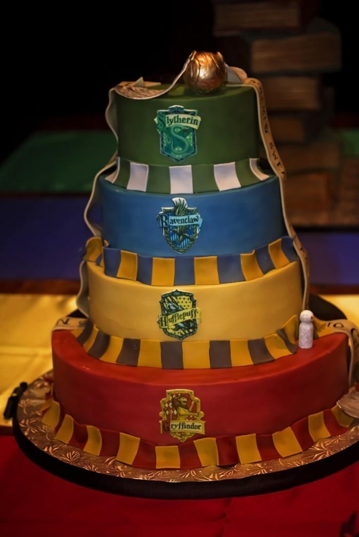 lettre-poudlard-décoration-gâteau-robe-mariée