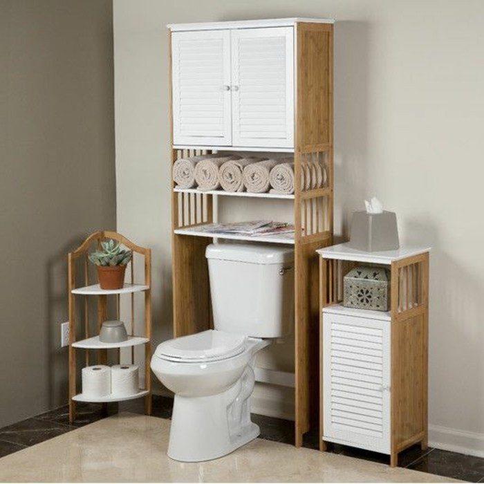 meuble bambou salle de bain pas cher