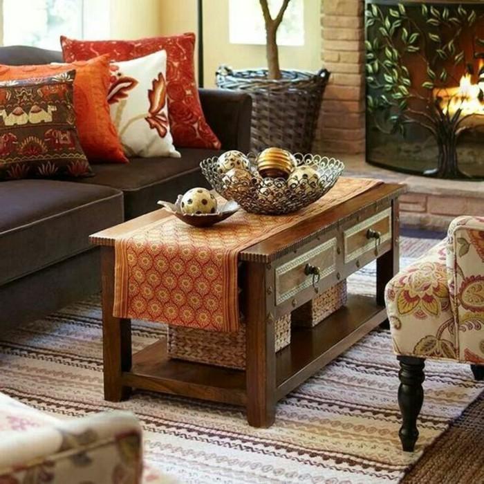 meubles-coloniaux-meuble-ethnique-intérieur-table-basse