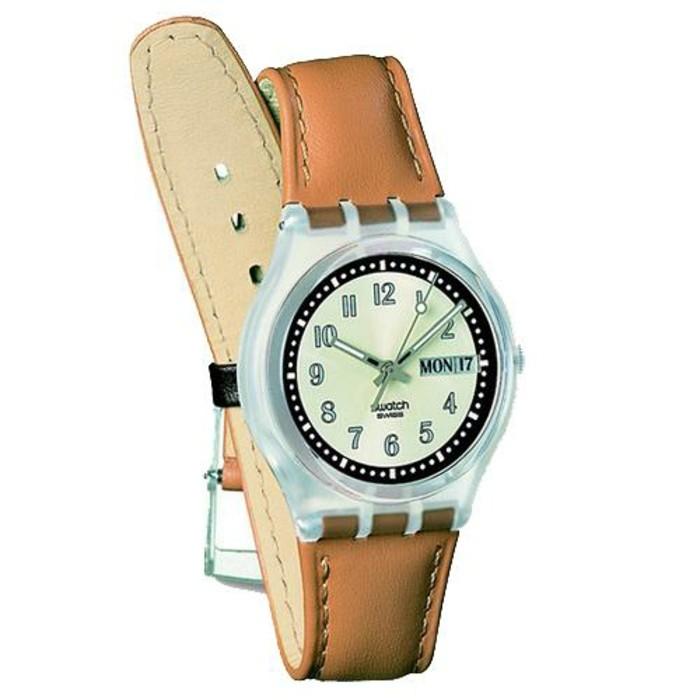 montre-swatch-en-cuir-marron-clair-et-en-plastique-resized