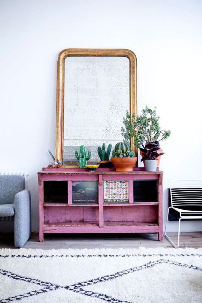 D corez avec les plantes grasses d 39 int rieur for Grand miroir buffet