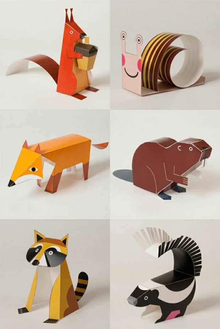 pliage-animaux-en-papier-coloré-comment-faire-animaux-origami-en-papier-coloré