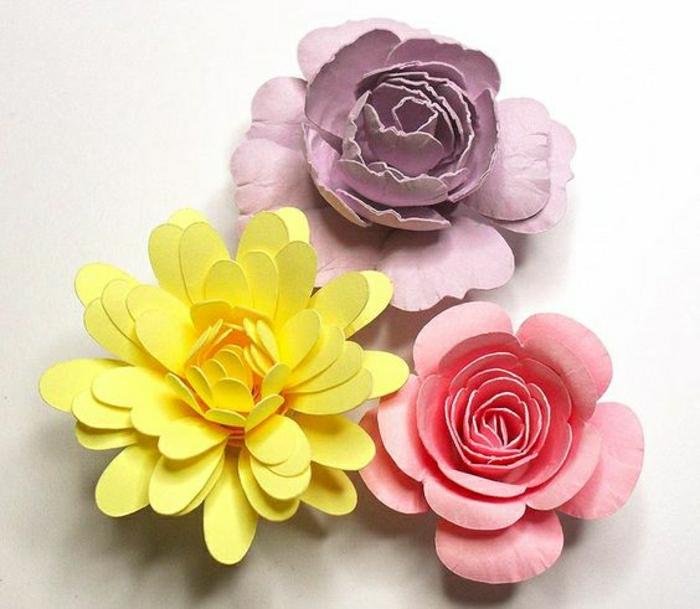 pliage-papier-fleur-fleur-en-papier-coloré-origami-facile-coloré-comment-faire-un-origamie