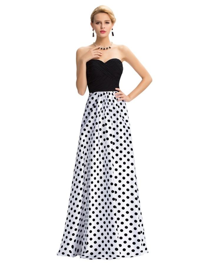 robe-de-soirée-longue-pois-blancs-et-noirs-resized