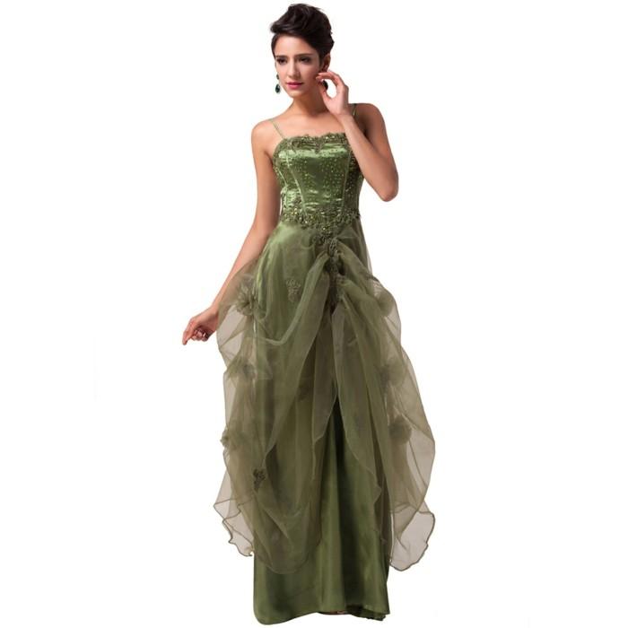 Robe de soiree vert olive