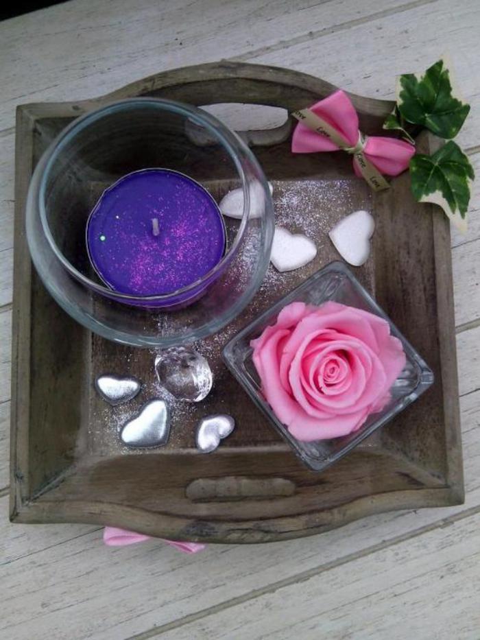 rose-stabilisée-composition-décorative-bougie-et-rose-stabilisée