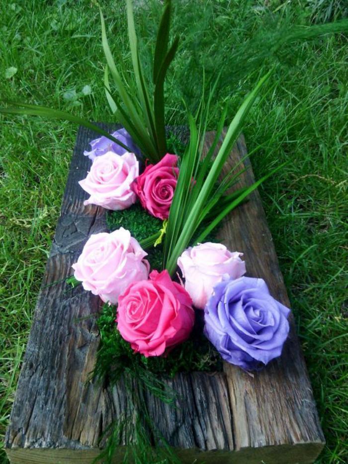 Essayez la rose stabilis e pour la d coration de vos tables - Fleur a faire soi meme ...