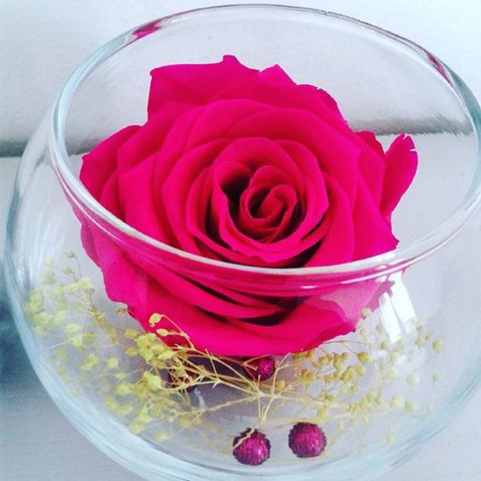 rose-stabilisée-petite-composition-avec-une-rose-éternelle