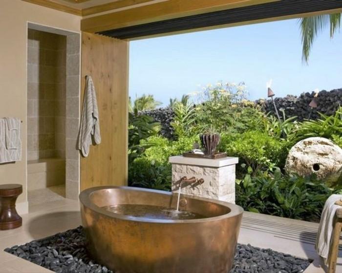 salle-de-bain-bambou-meuble-salle-de-bain-zen-tapis-gris-carrelage-beige