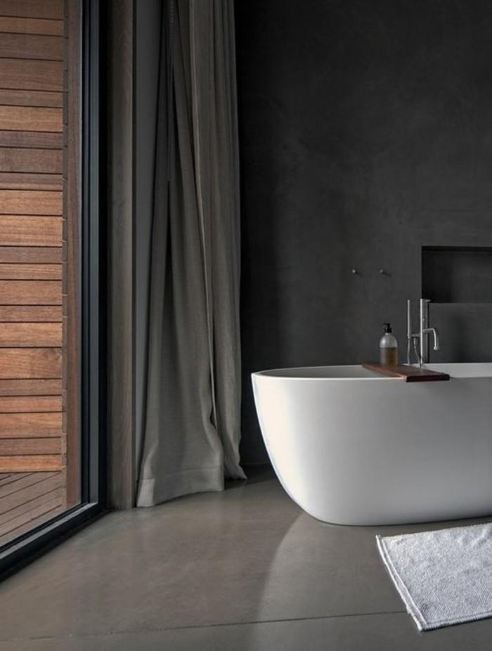 Comment cr er une salle de bain contemporaine 72 photos - Salle de bain contemporaine grise et blanche ...