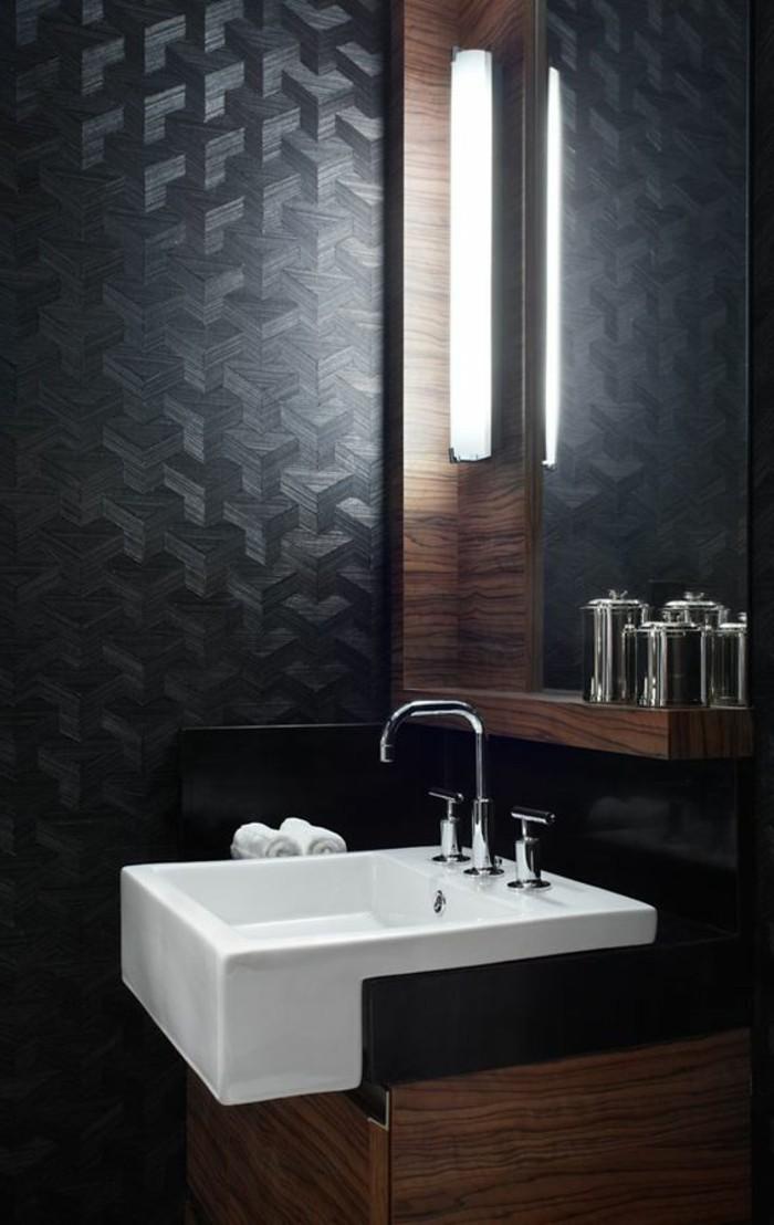 Comment cr er une salle de bain contemporaine 72 photos - Papier peint salle de bain zen ...