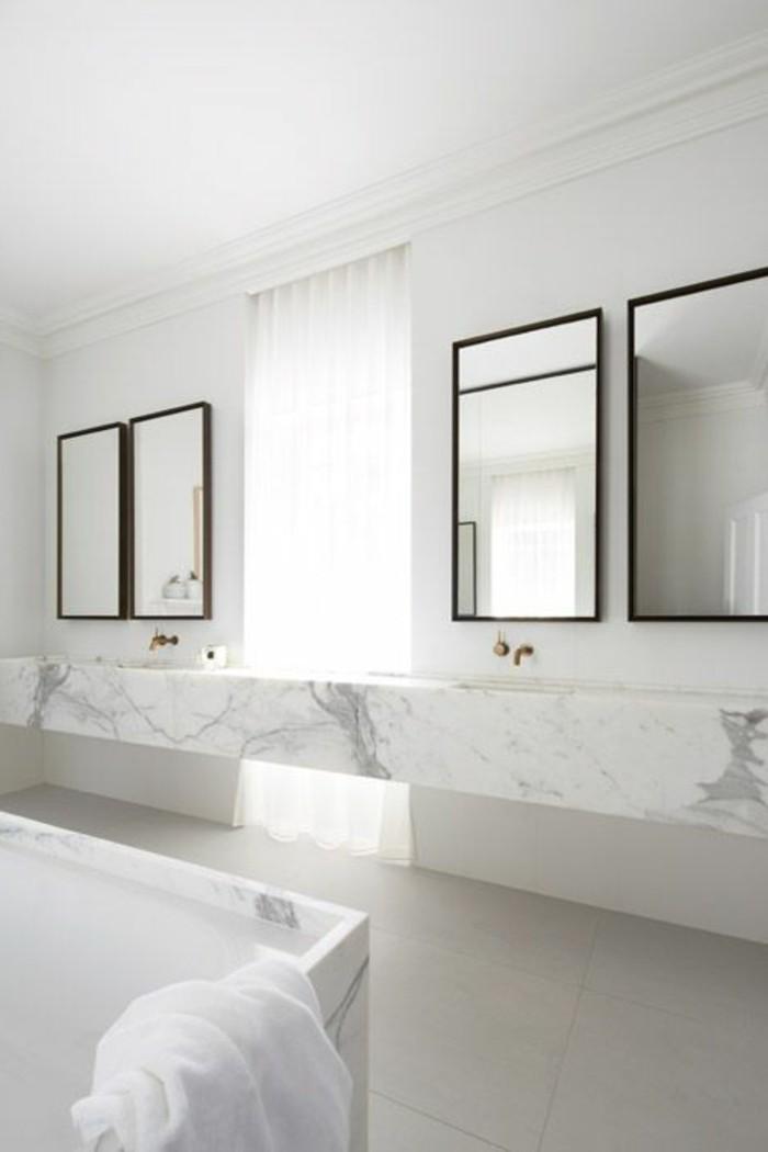 comment creer une salle de bain contemporaine 72 photos With salle de bain design avec boite en carton blanc à décorer