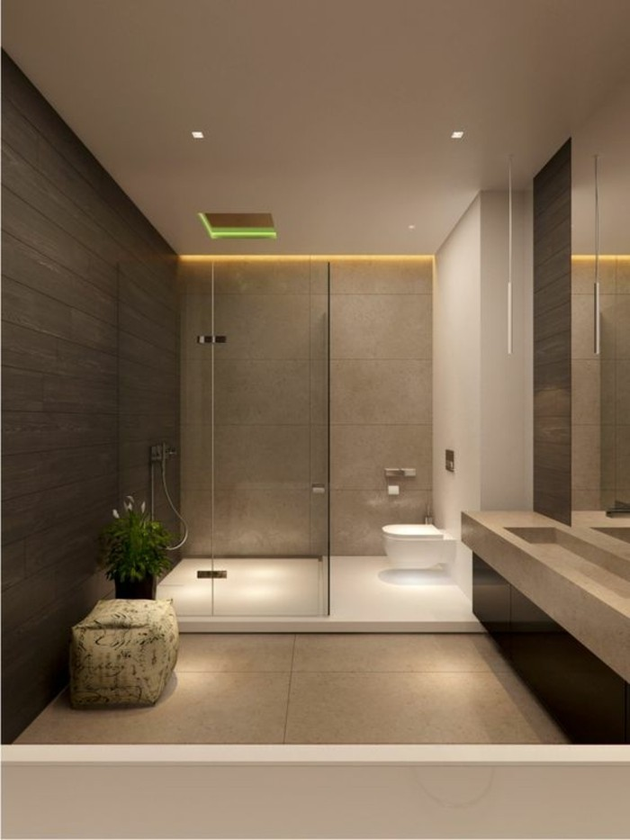 Comment cr er une salle de bain contemporaine 72 photos for Salle de bain marron beige