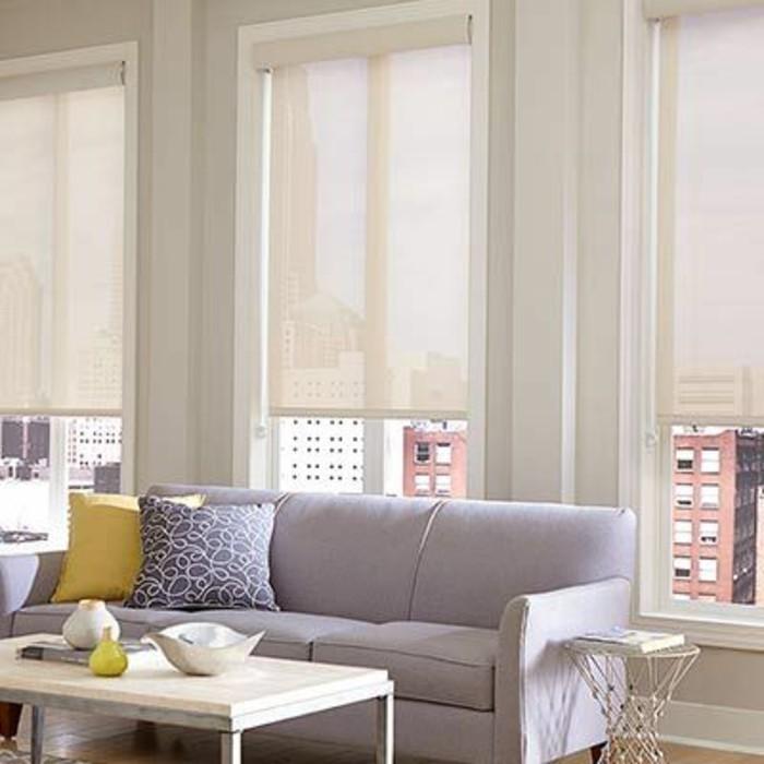 salon-meubles-violetes-de-salon-canapé-violet-salon-store-enrouleur-occultant-beige