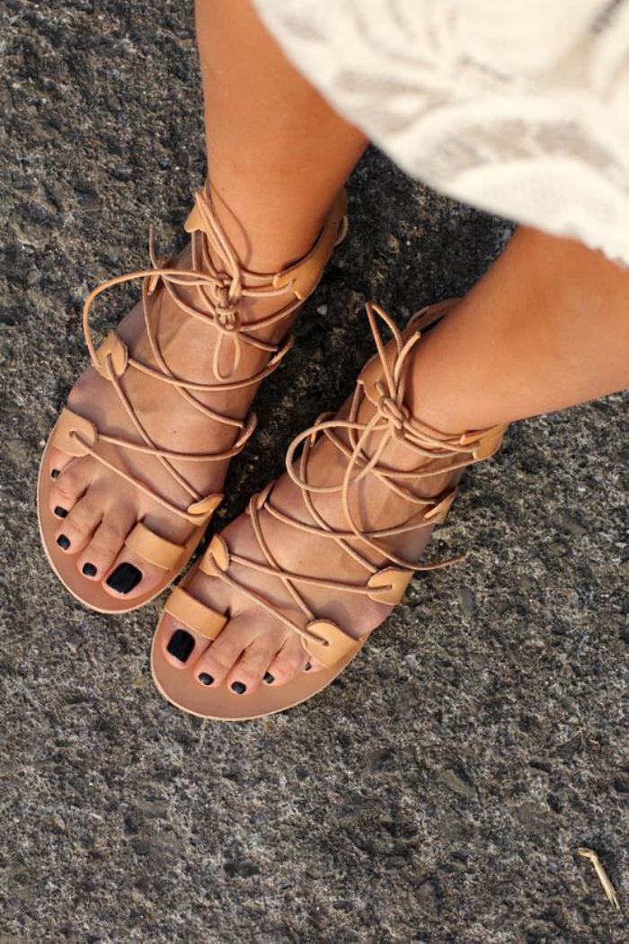 sandales-montantes-sandales-décontractées-le-style-d'été