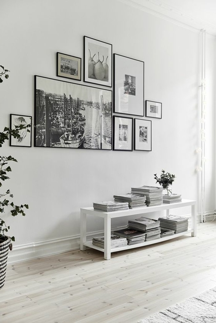 Blanche conforama perfect table de salon noir et blanc for Table blanche conforama