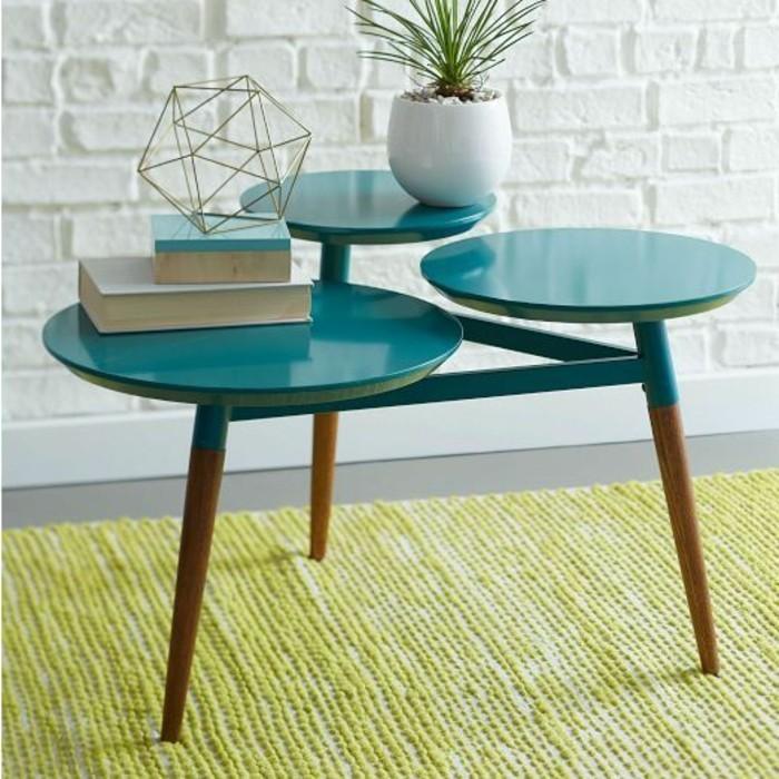 tables-basses-pas-cher-ikea-tapis-coloré-mur-en-briques-blancs