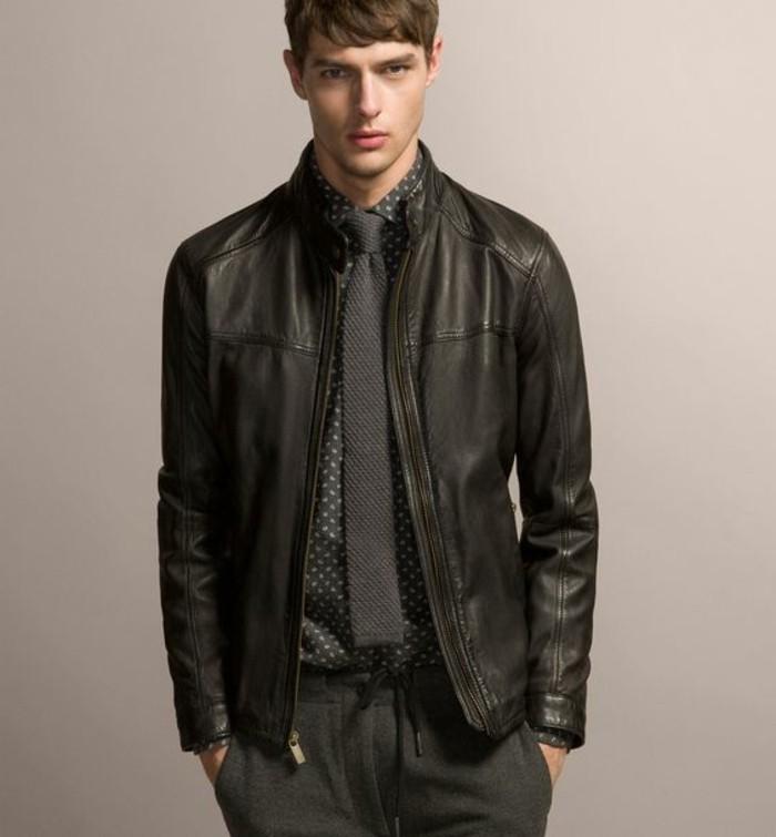 tendances-homme-veste-en-cuir-noir-blouson-homme-pas-cher-en-cuir-tendances-de-la-mode