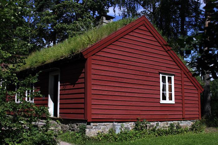toiture-végétalisée-maison-rouge-toit-vert